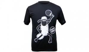 ひつじのショーンTシャツ-ブラック