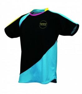 MS・Tシャツ ブラック×ブルー前